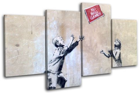No Ball Games Banksy Street - 13-1002(00B)-MP04-LO
